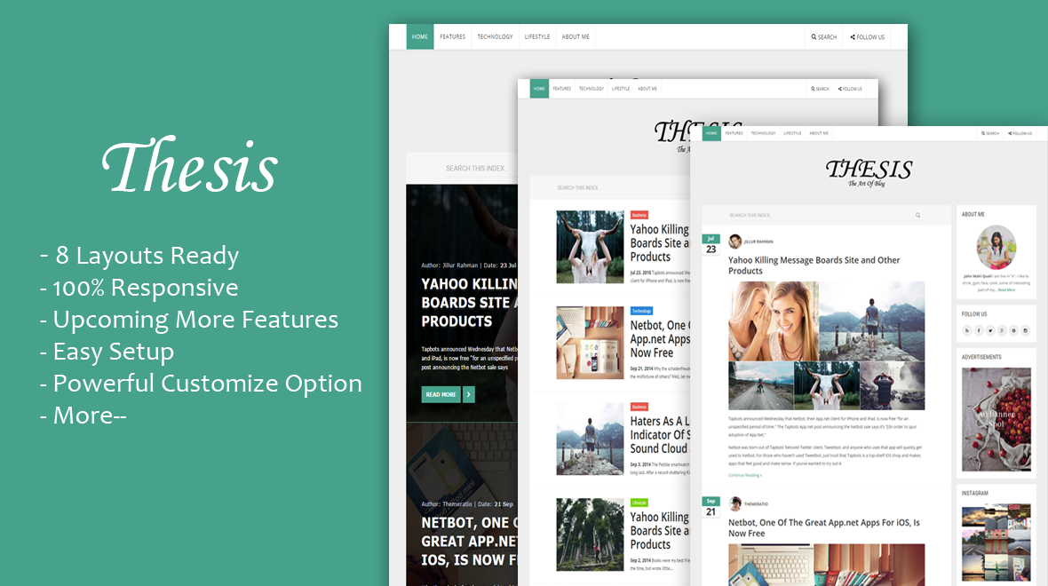 thesis wp theme preview