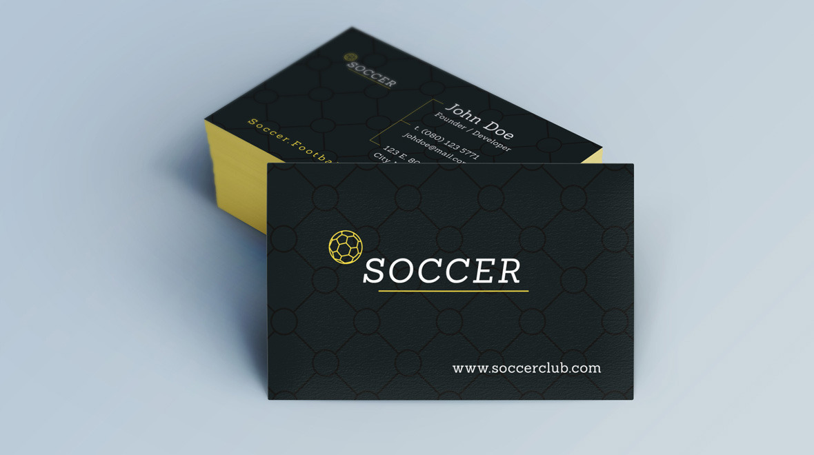 Creative - Minimal Business Card - Soccer - Logos & Graphics