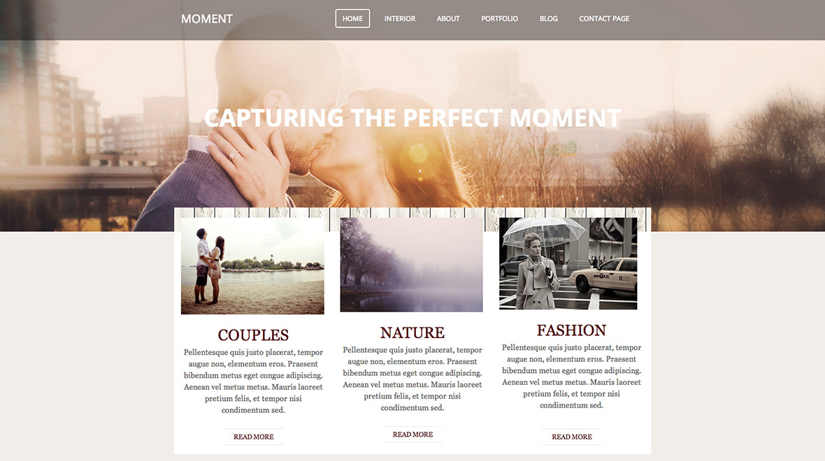 Moment theme for weebly themes templates for Weebly site templates