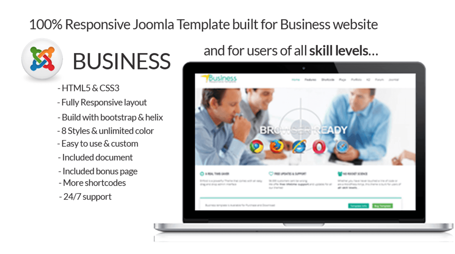business joomla business template themes templates. Black Bedroom Furniture Sets. Home Design Ideas