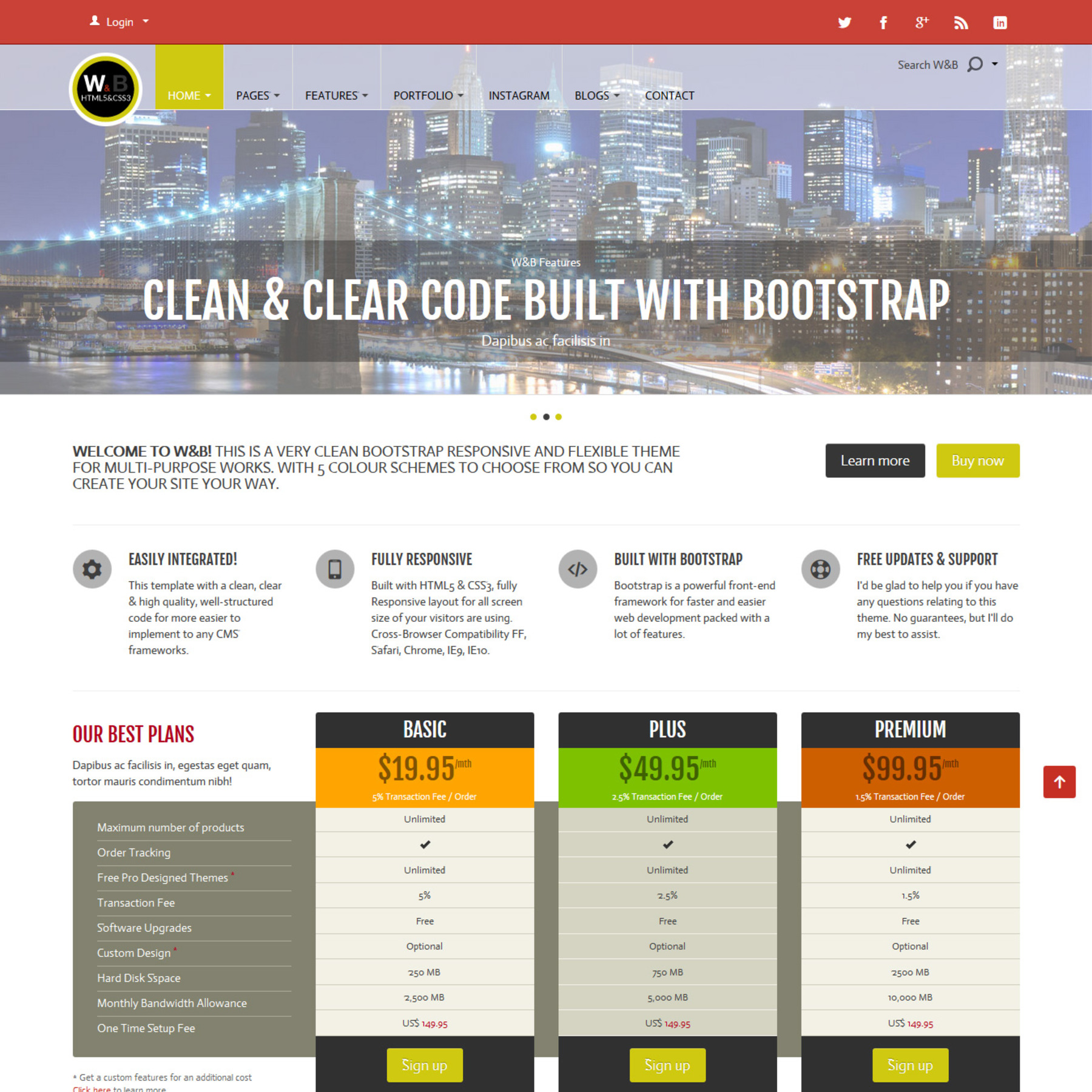 multi purpose bootstrap responsive html5 template themes templates. Black Bedroom Furniture Sets. Home Design Ideas