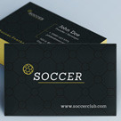 Creative Minimal Business Card - Soccer