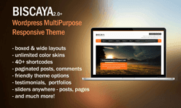 Biscaya - MultiPurpose Wordpress Theme