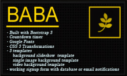 Baba Coming Soon HTML Template