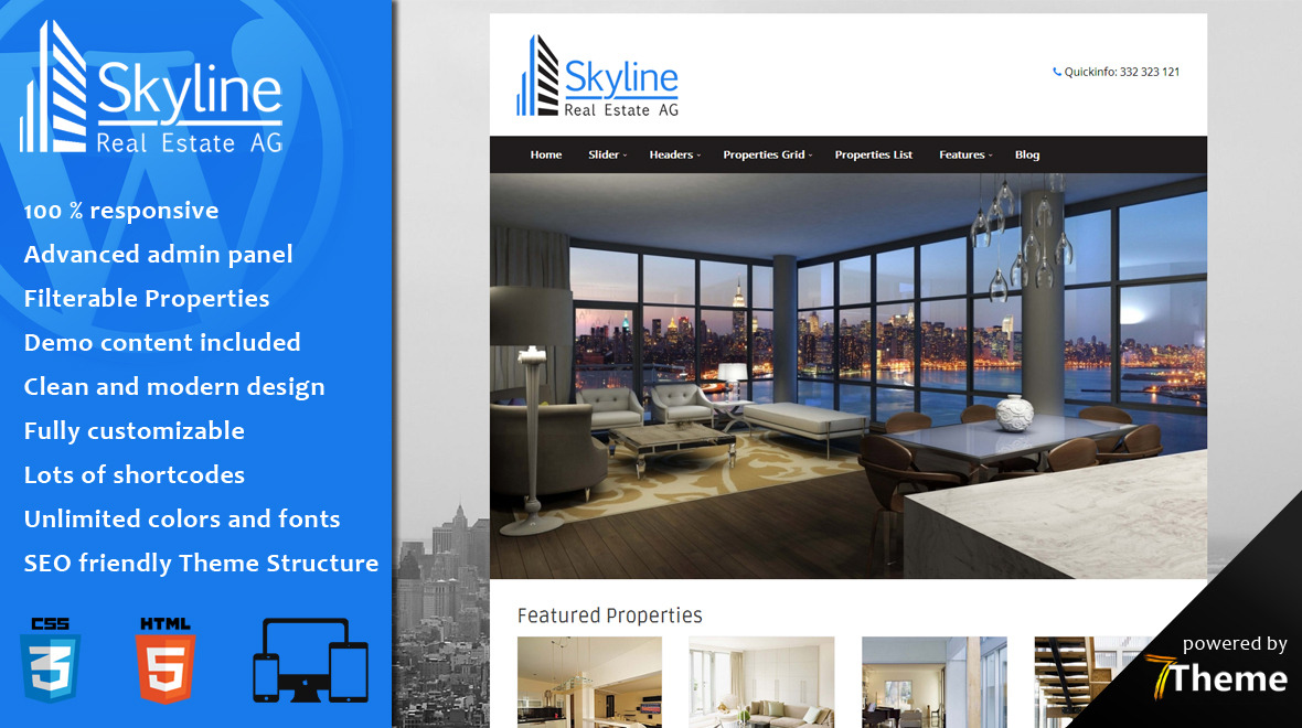 Skyline - Real Estate WordPress Theme - Themes & Templates