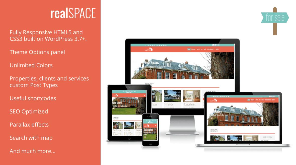 RealSpace - Real Estate WordPress Responsive & Parallax Theme ...
