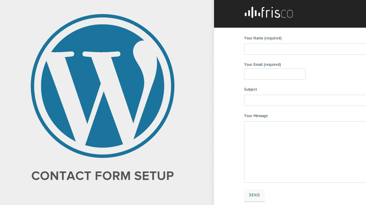 Create a WordPress Contact Form