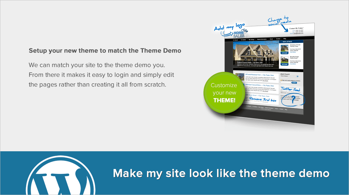 Make My WordPress Site Look Like the Theme Demo - Professional Services