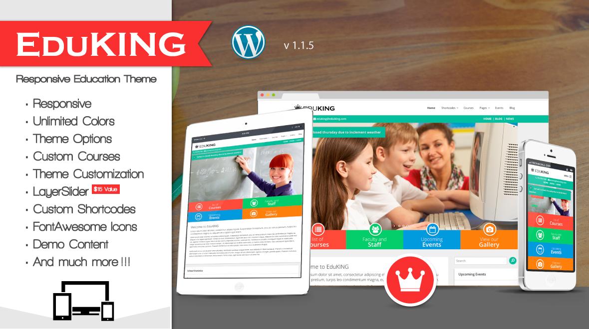 EduKING - Education/University Responsive WordPress Theme