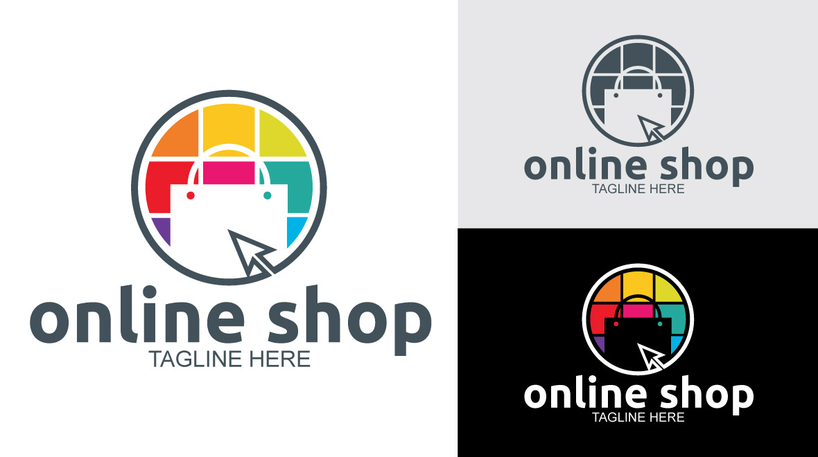Online shop logos graphics for Online store for shopping