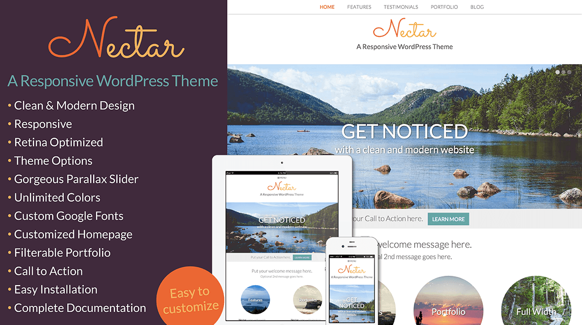 Nectar » A Responsive WordPress Theme