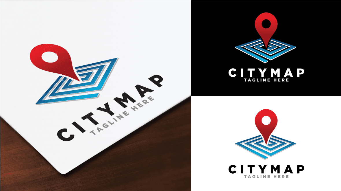 city map logo logos graphics