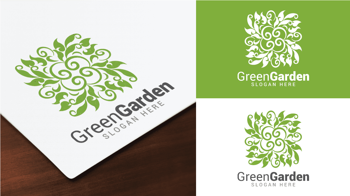 Green - Garden Logo - Logos & Graphics