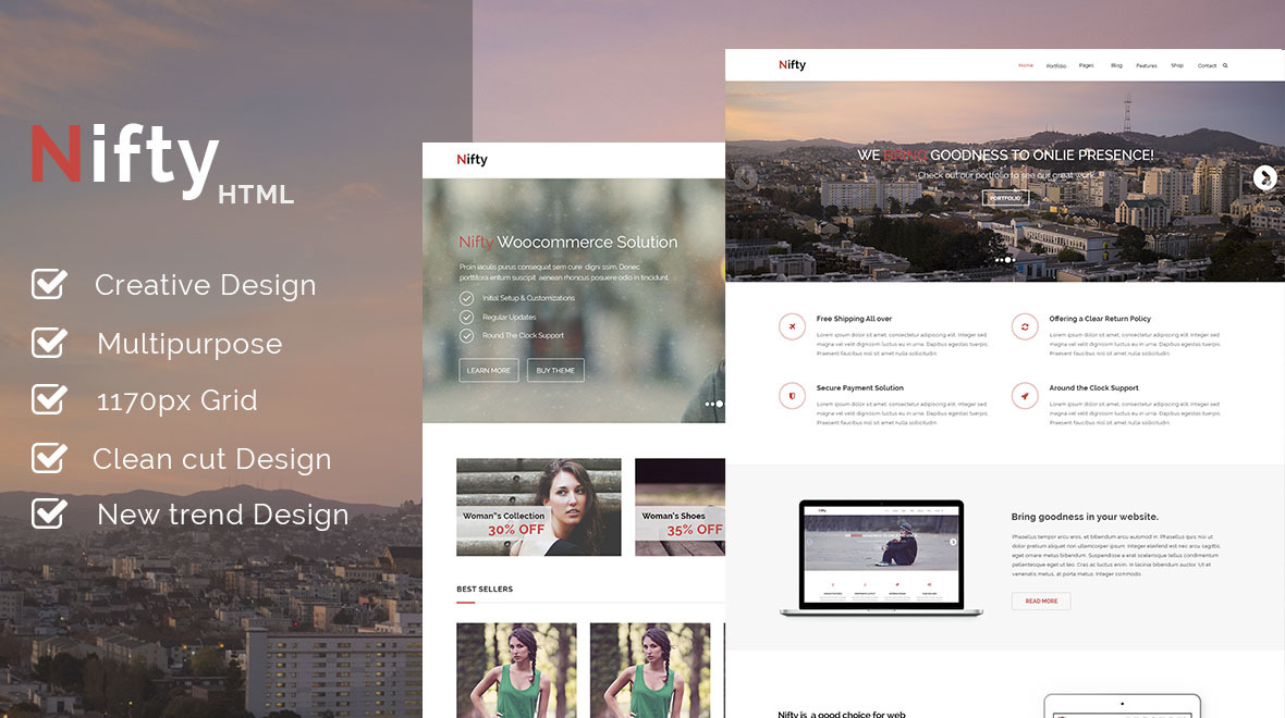 Nifty | Responsive Multi Purpose HTML5 Template