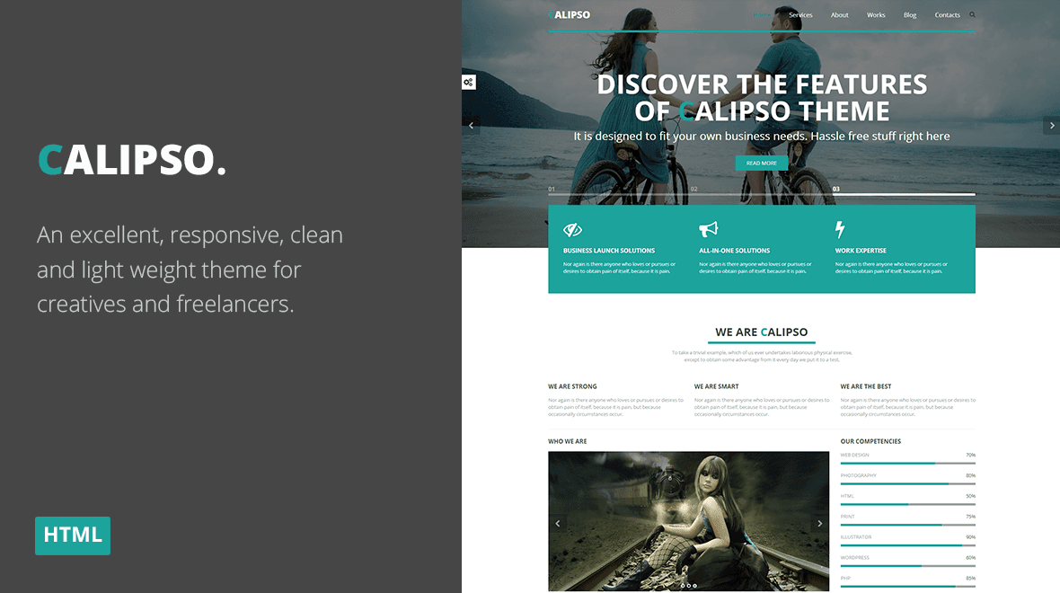 Calipso - Multi-Purpose Parallax HTML Landing Page - Themes ...
