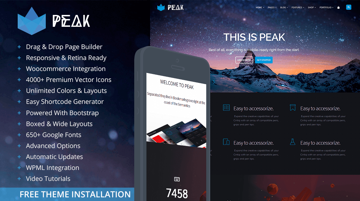Peak WordPress Theme