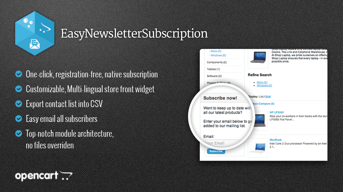 EasyNewsletterSubscription - Easy Native Newsletter Subscription Preview Image