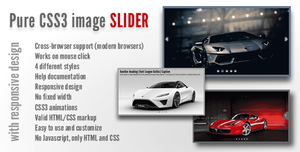 Pure CSS3 Image Slider with Responsive Design