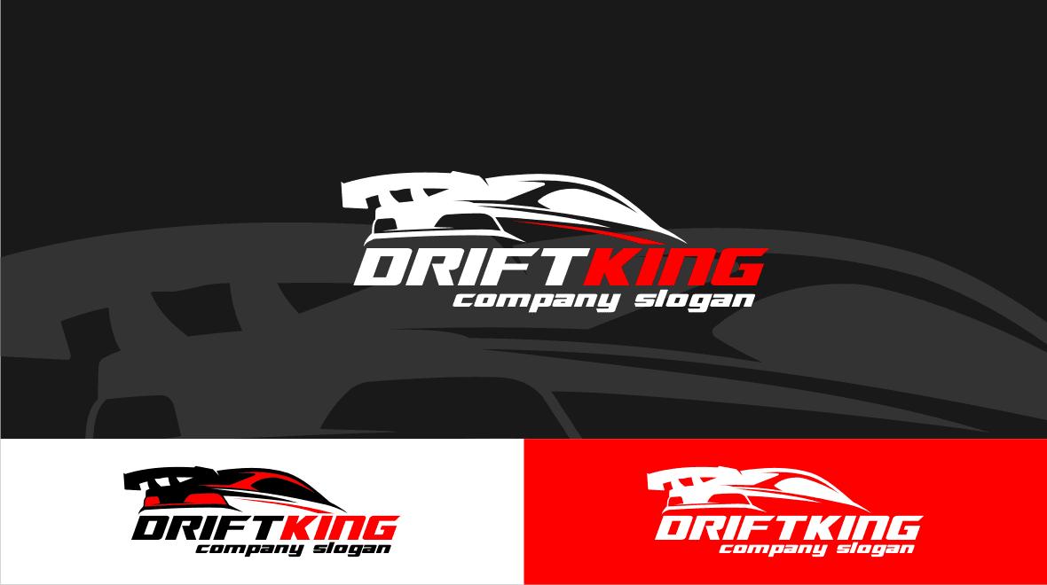 drift - king logo template