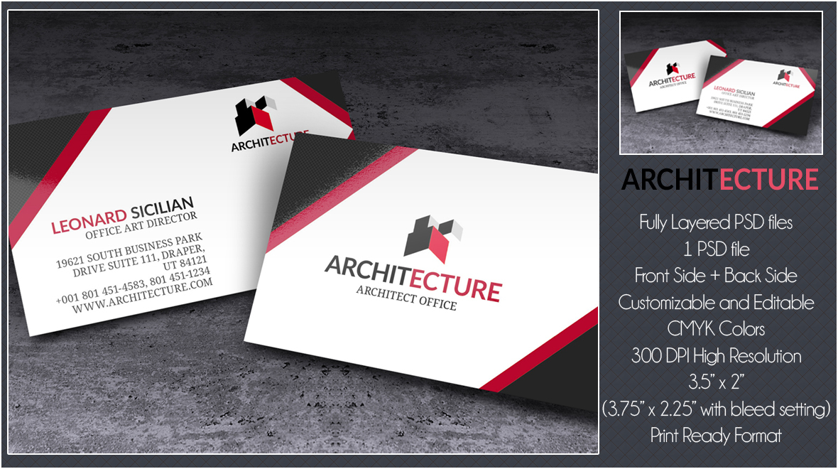 Architecture - Creative Business Card - Logos & Graphics
