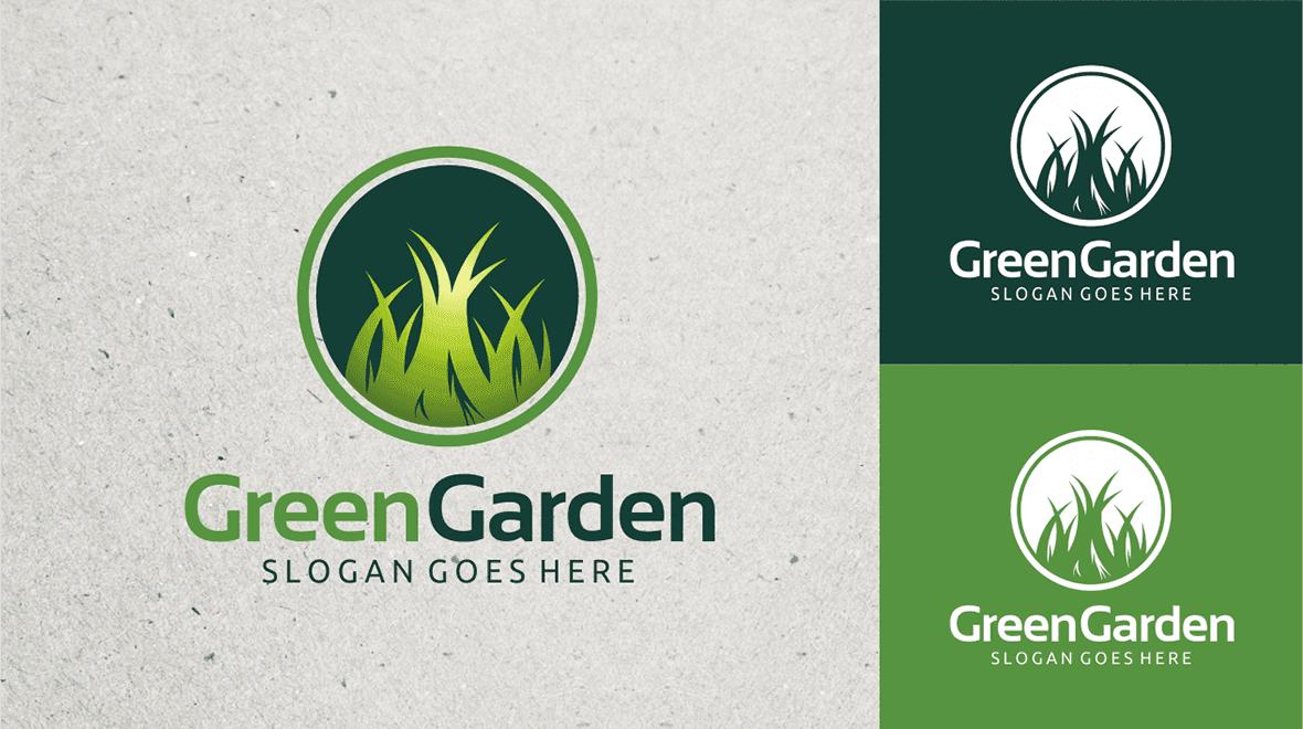 Green. Garden Logo