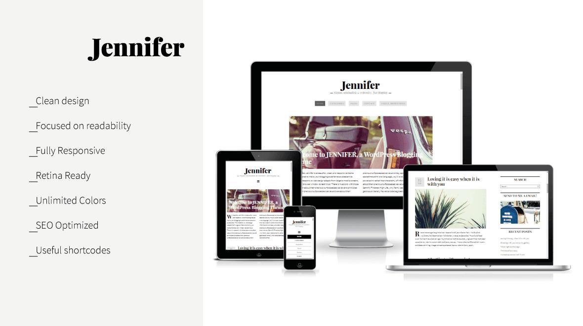 Jennifer - Clean WordPress Blog Theme