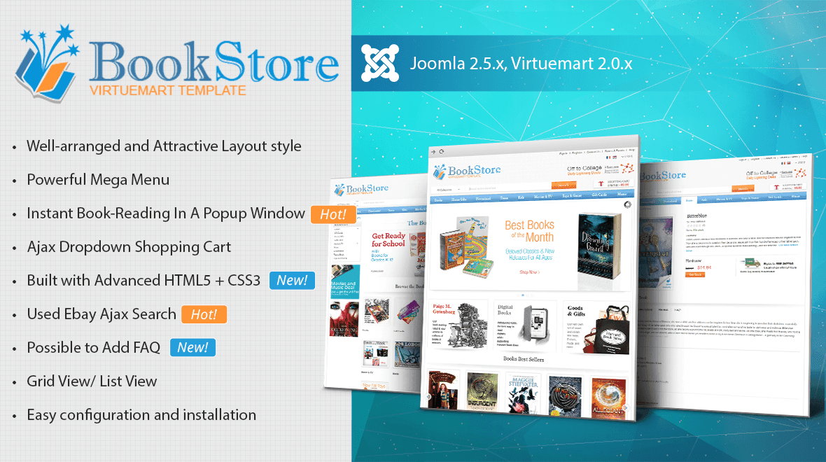 book - store virtuemart template - themes & templates, Powerpoint templates