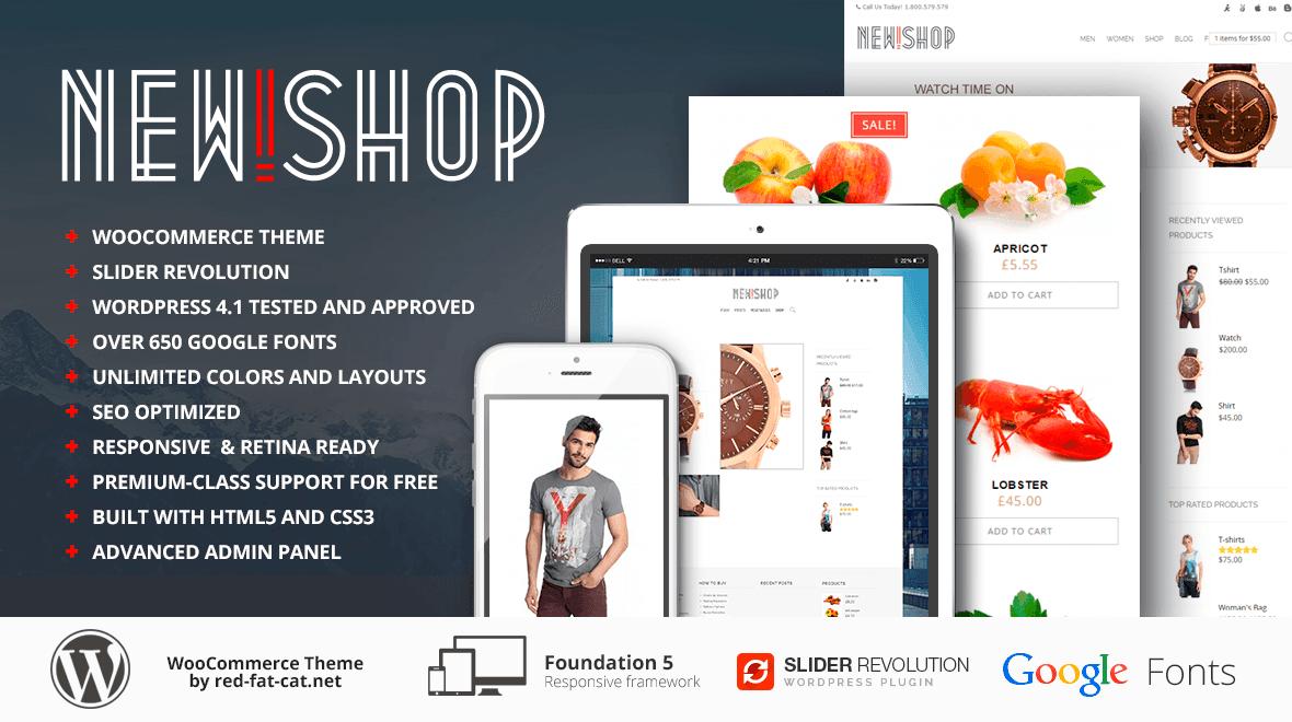 New!Shop - eCommerce WordPress Theme - Themes & Templates