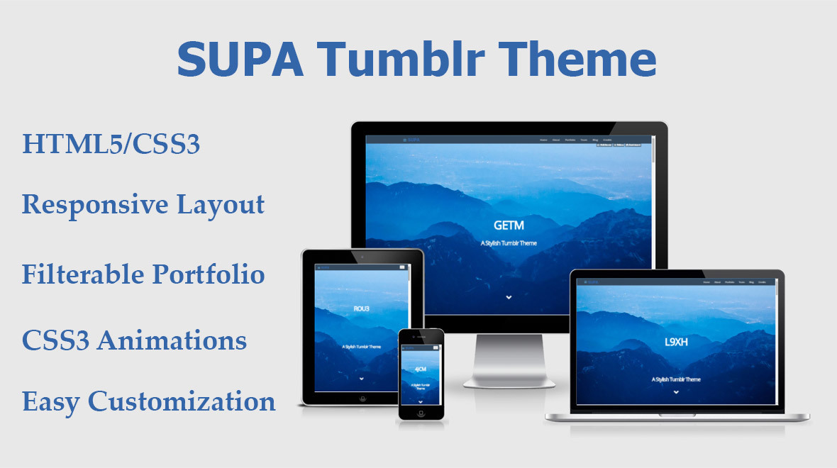 SUPA Tumblr Theme