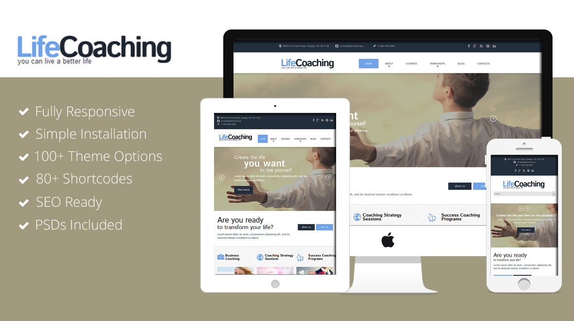 LifeCoaching - Responsive WordPress Theme - Themes & Templates
