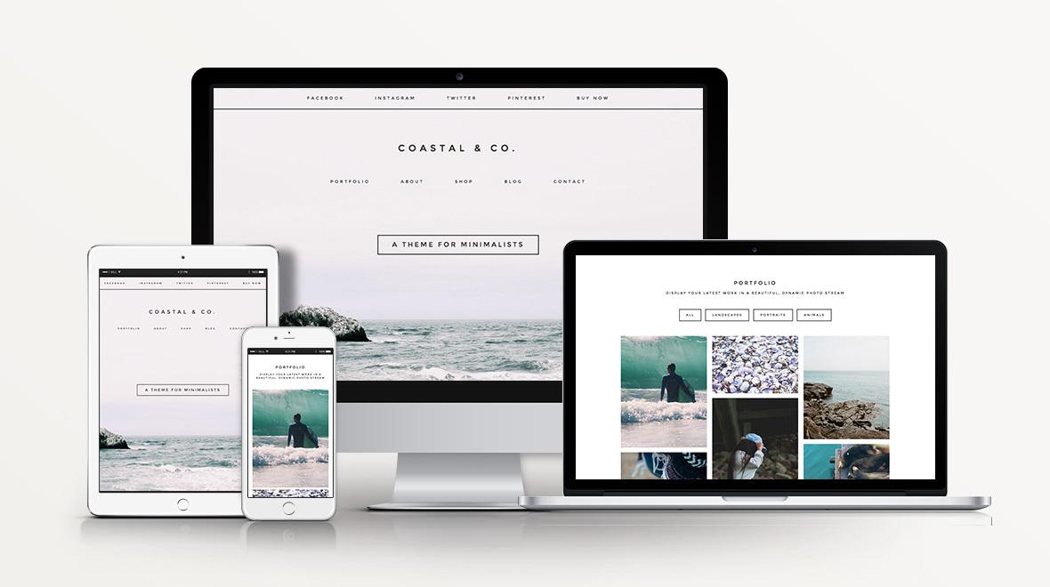 Coastal - Portfolio WordPress Theme