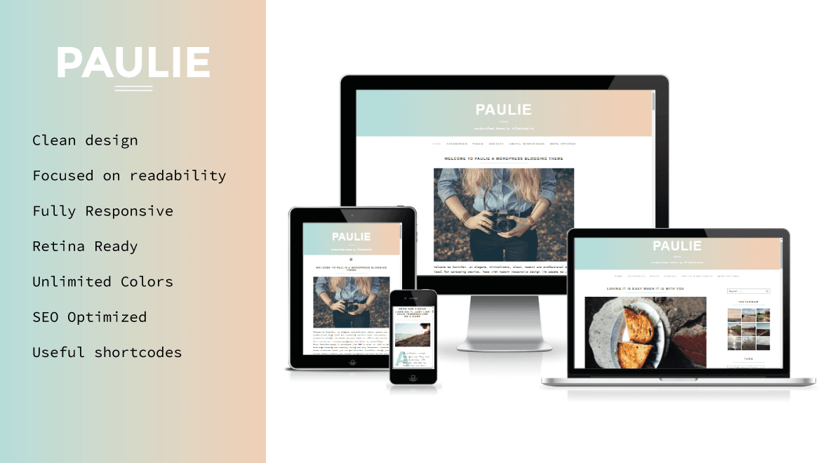 Paulie - WordPress Theme For Lifestyle Bloggers - Themes & Templates