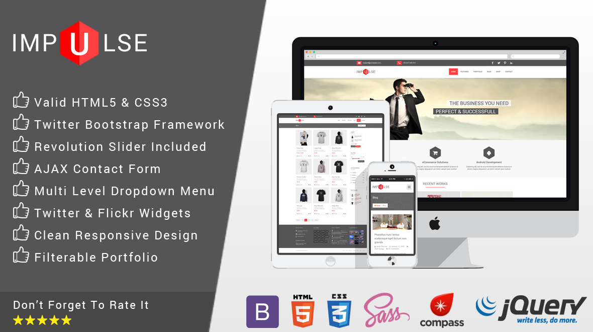 Impulse - Responsive HTML5 Template