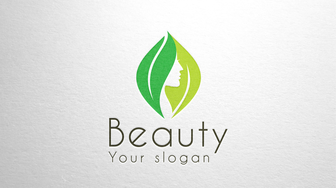 Beauty Face In Leafs Logo Logos Graphics