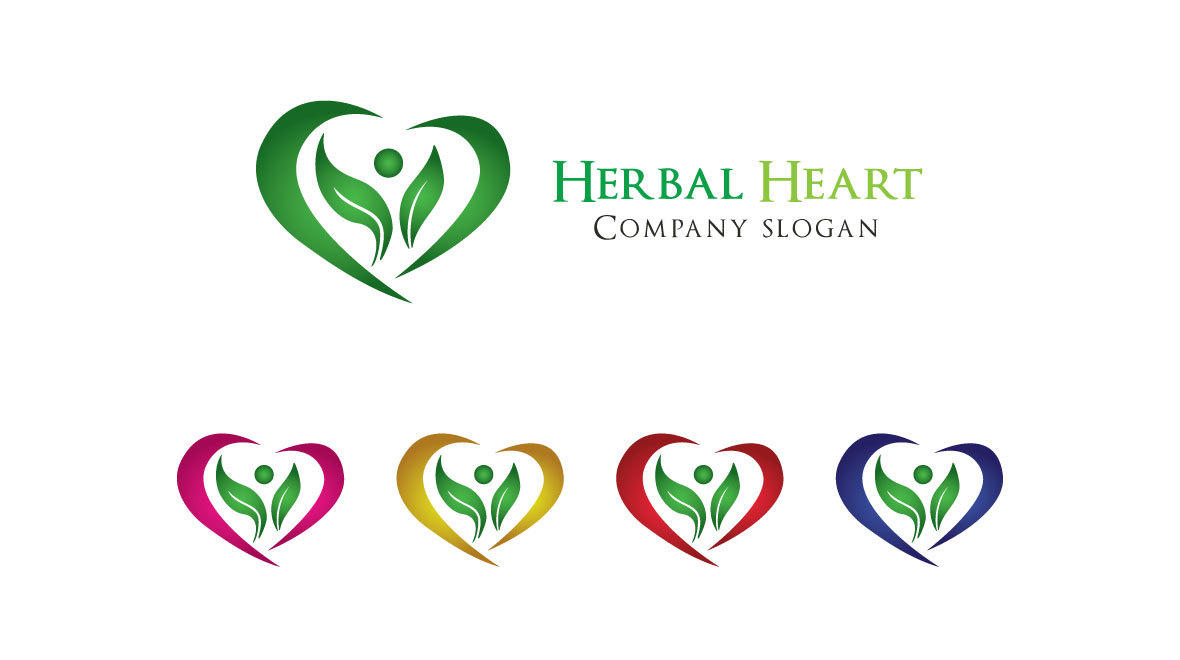 Herbal - Heart Logo - Logos & Graphics