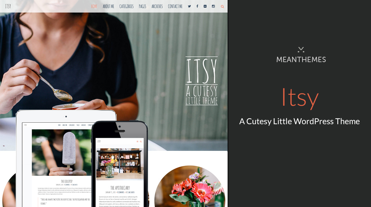 Itsy A Cutesy Little WordPress Theme