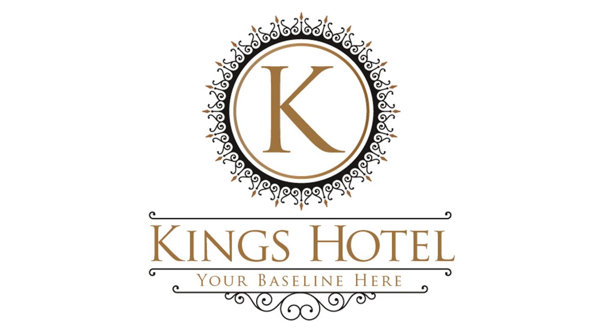kings hotel logo template logos amp graphics