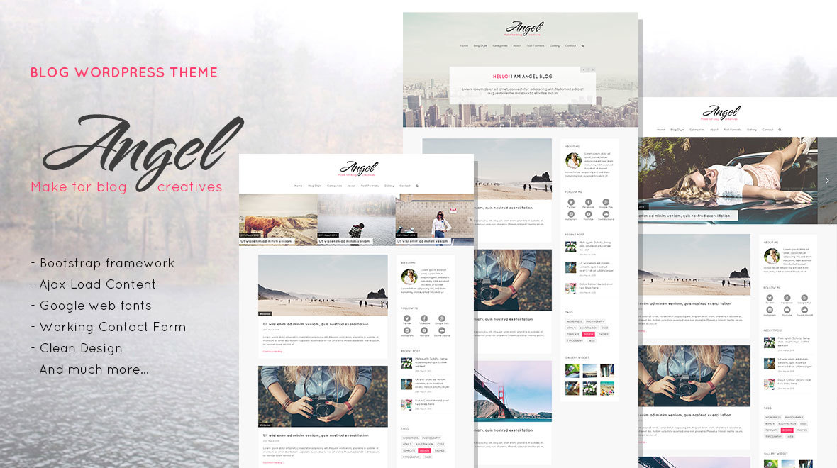 Angel - Creative & Elegant Blog WordPress Theme - Themes & Templates