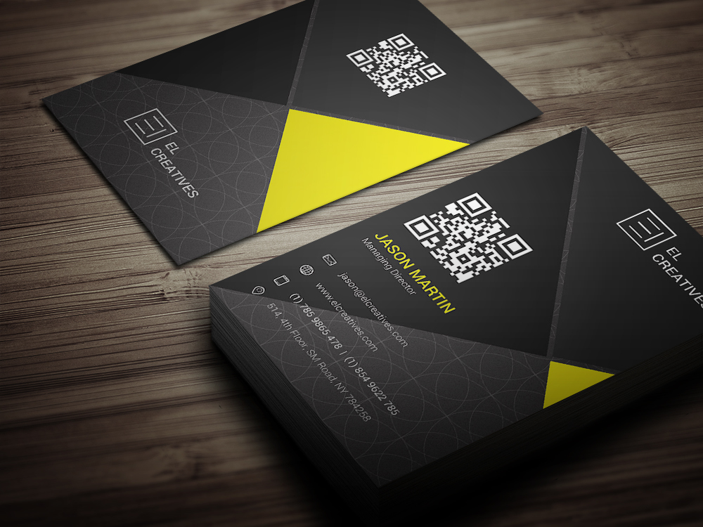 Creative dark business card logos graphics item details creative business card colourmoves