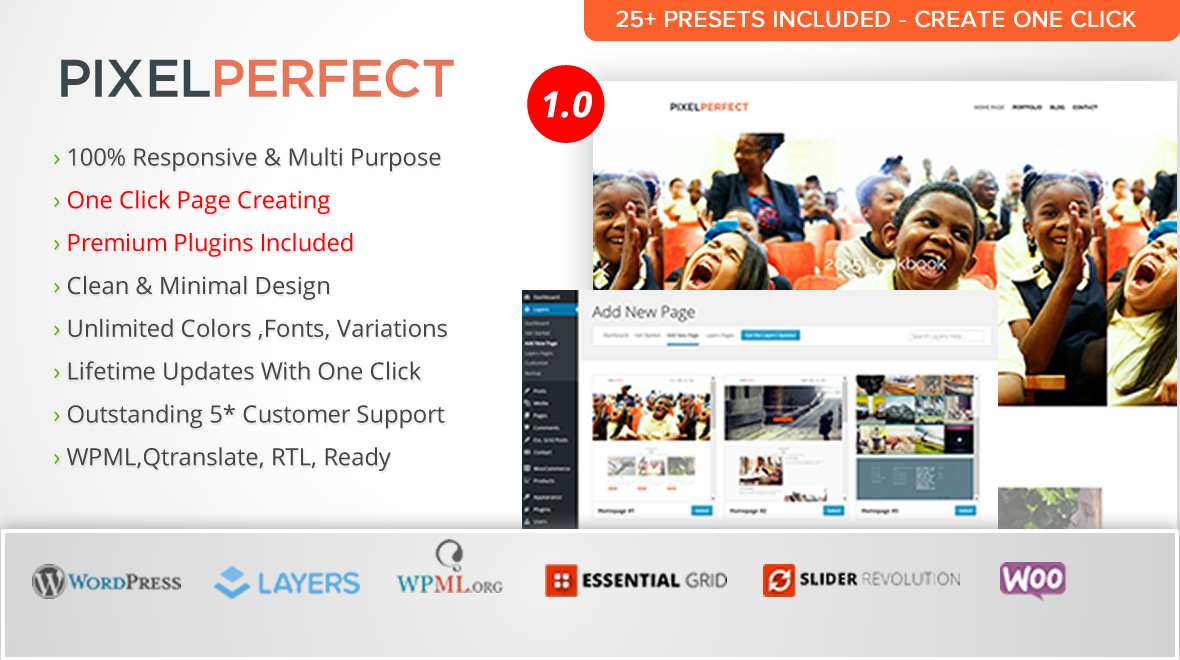 PixelPerfect- Multipurpose WordPress Layers Theme