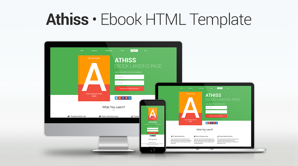 Athiss ebook html template themes templates item details athiss athiss ebook landing page html5 template pronofoot35fo Choice Image