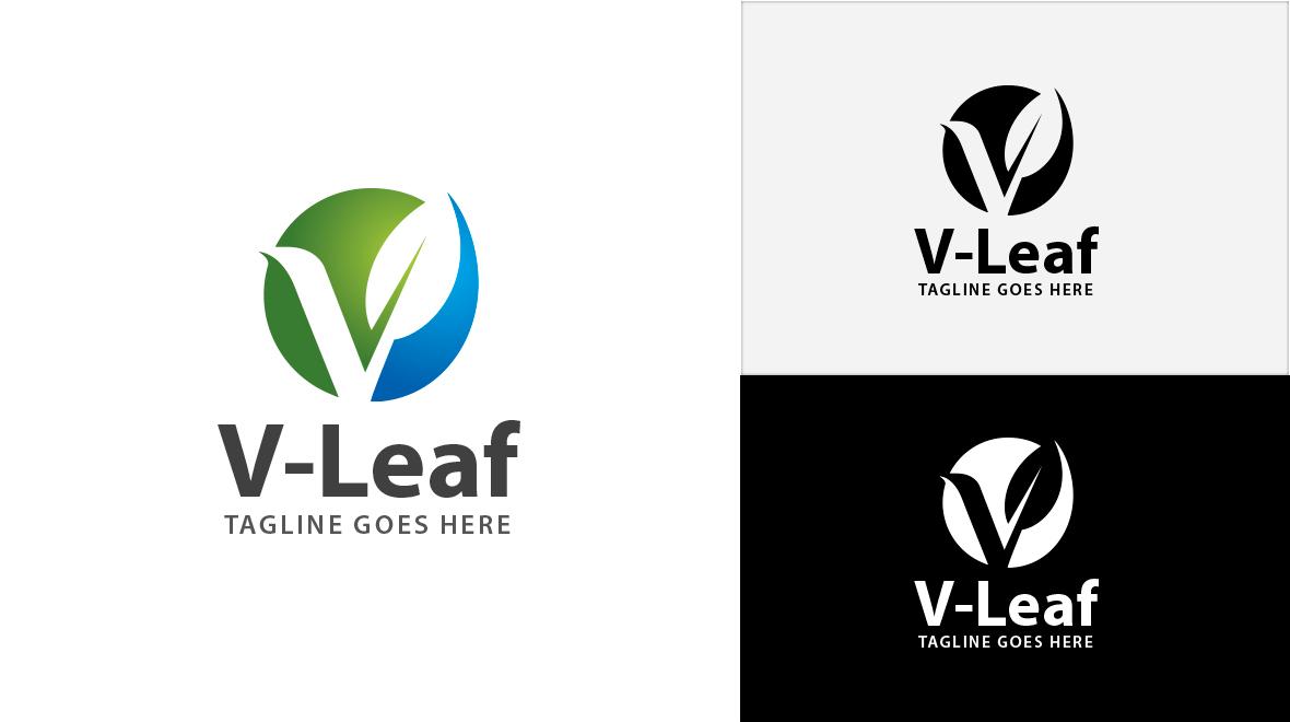 v - leaf logo