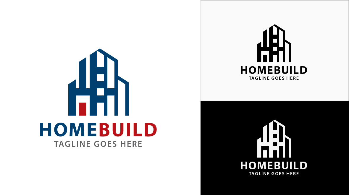 abstract - home    building logo