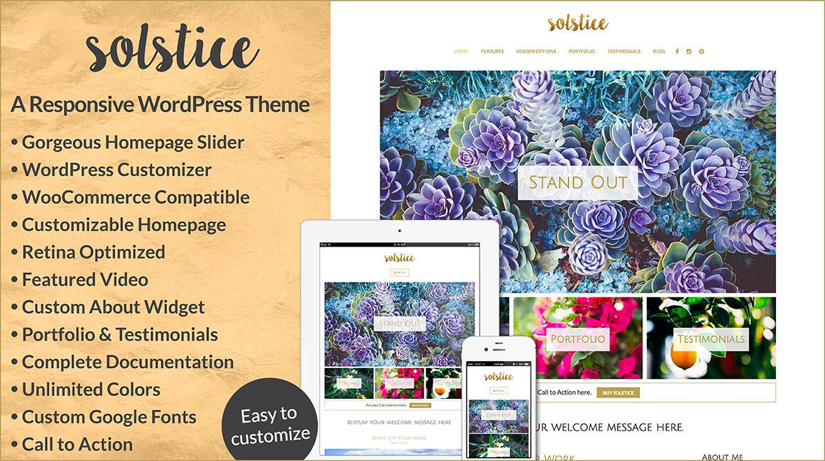 Solstice » An Elegant, Versatile and Responsive WordPress Theme for Blogging and Business