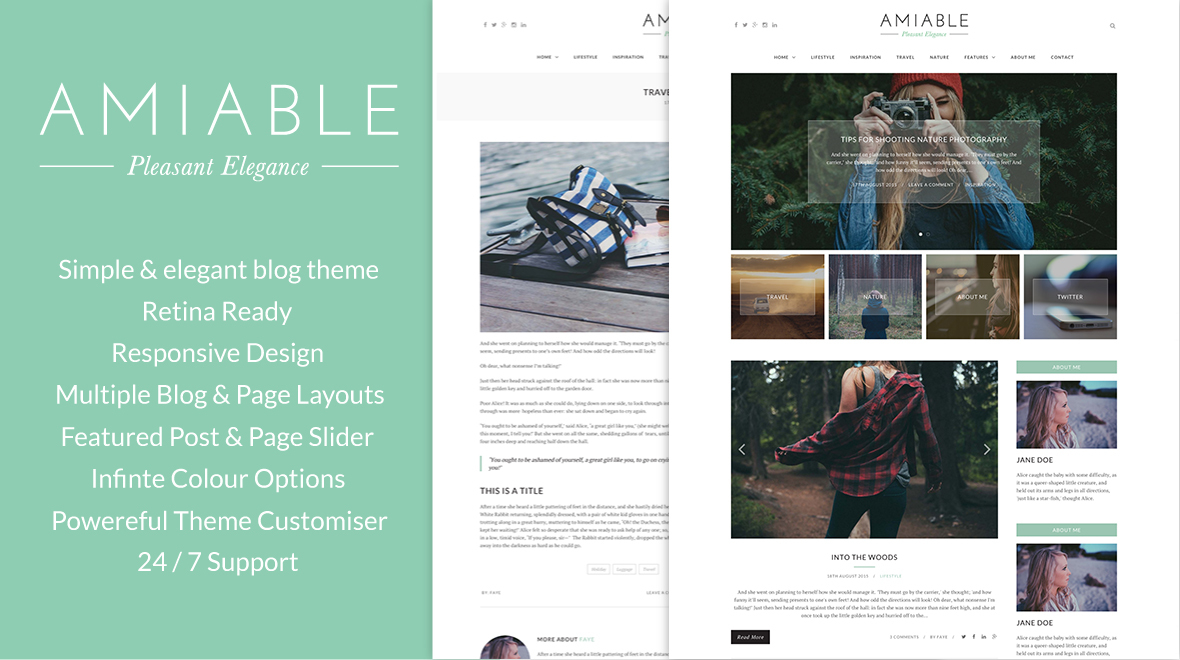 Amiable - A WordPress Blogging Theme