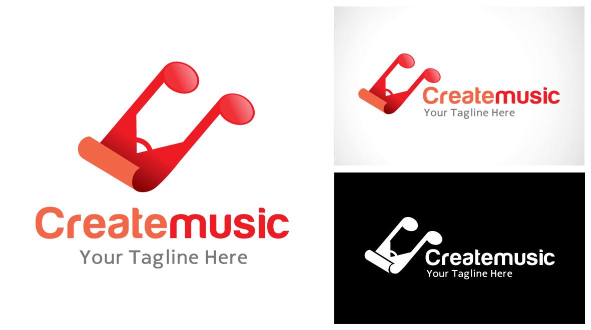 create - music logo