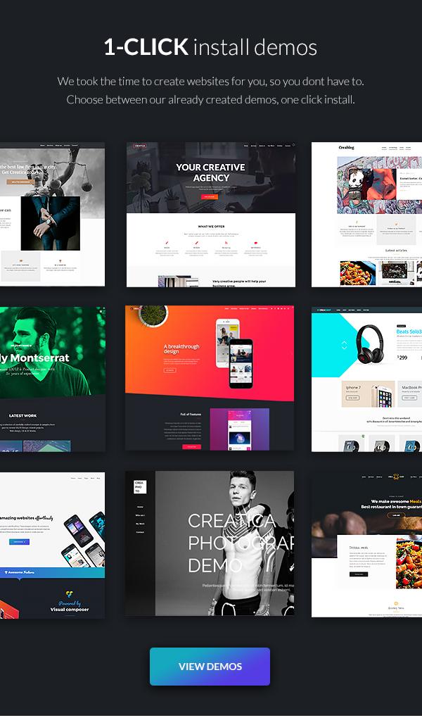 Creatica creative multi purpose wordpress theme themes for Wordpress subcategory template