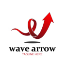 Wave Arrow Logo