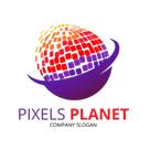 Pixels Planet Logo