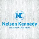 letter nk logo template